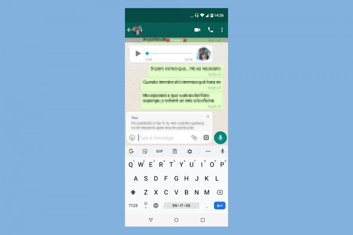 Comment répondre avec WhatsApp Plus