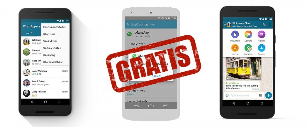 ¿Es WhatsApp Plus gratis?