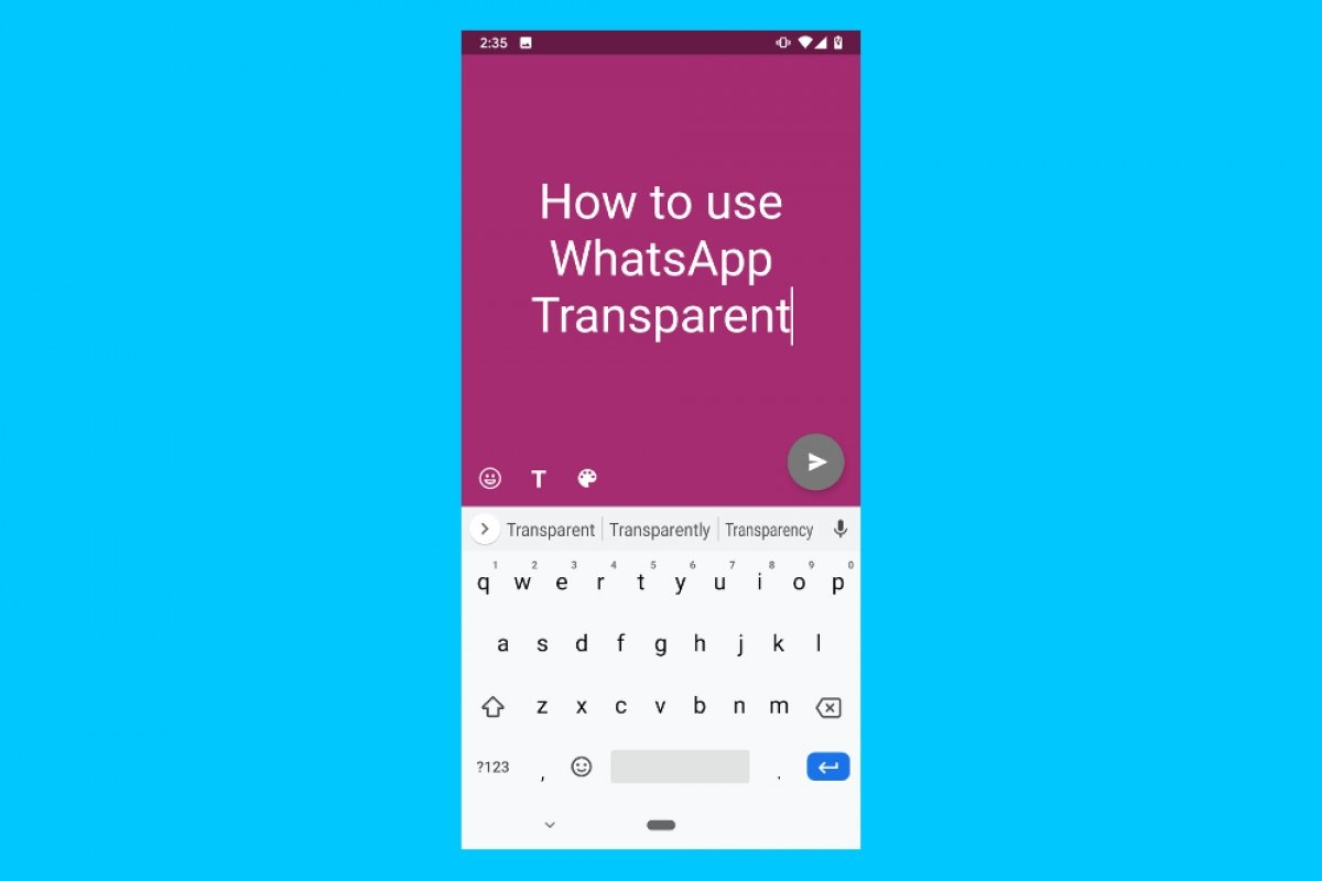 How to use WhatsApp Transparent