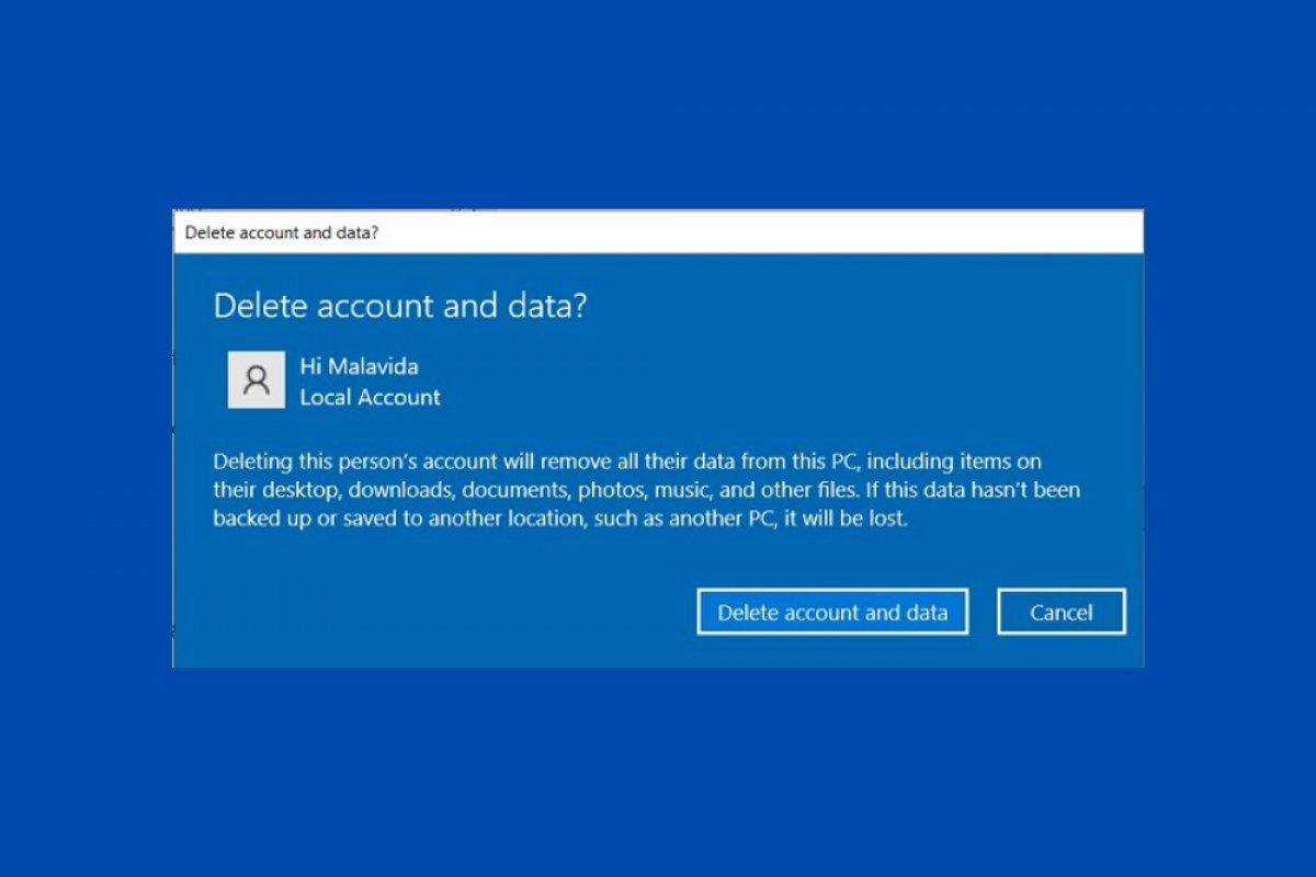 Cómo eliminar una cuenta de usuario en Windows 10