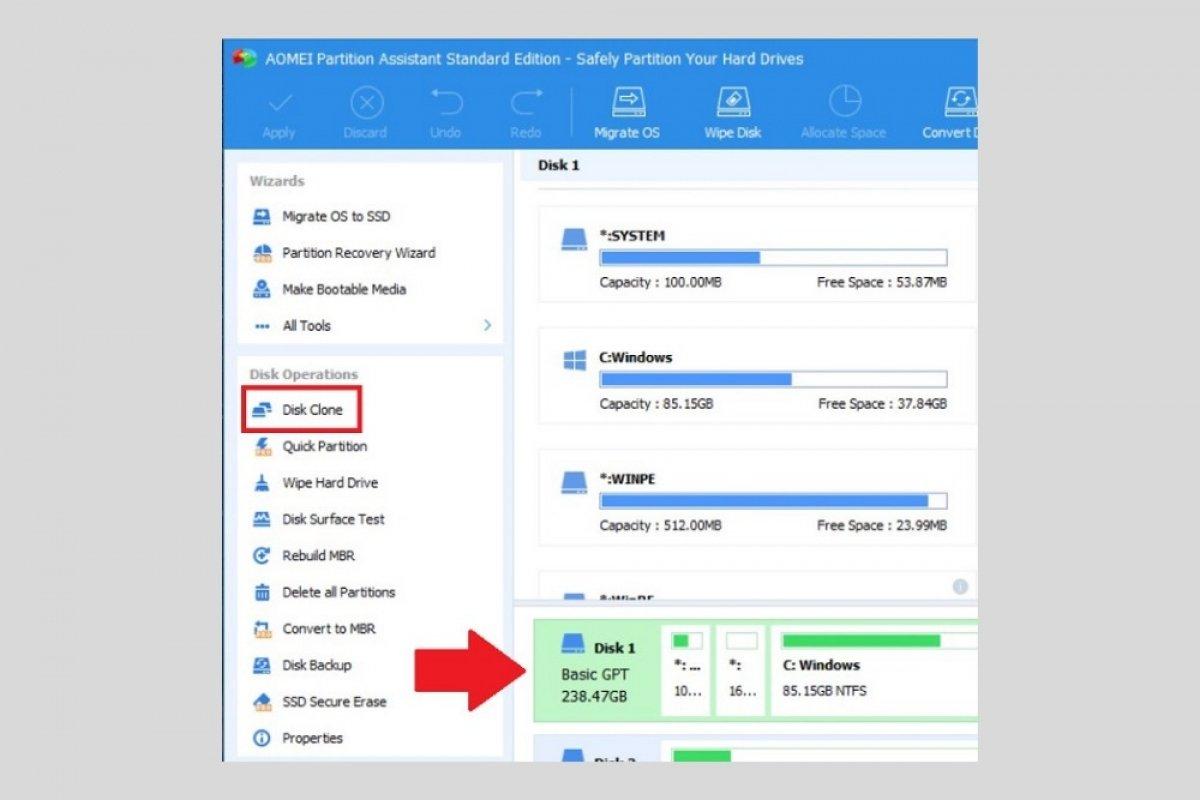 Come clonare un disco fisso in Windows 10