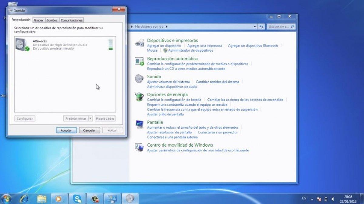 Cómo configurar el volumen automático en Windows 7