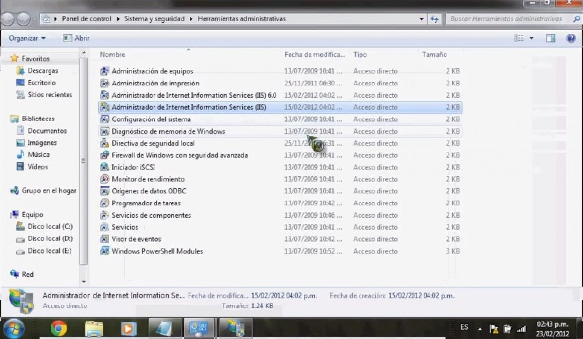 Cómo instalar Internet Information Services (IIS) en Windows 7