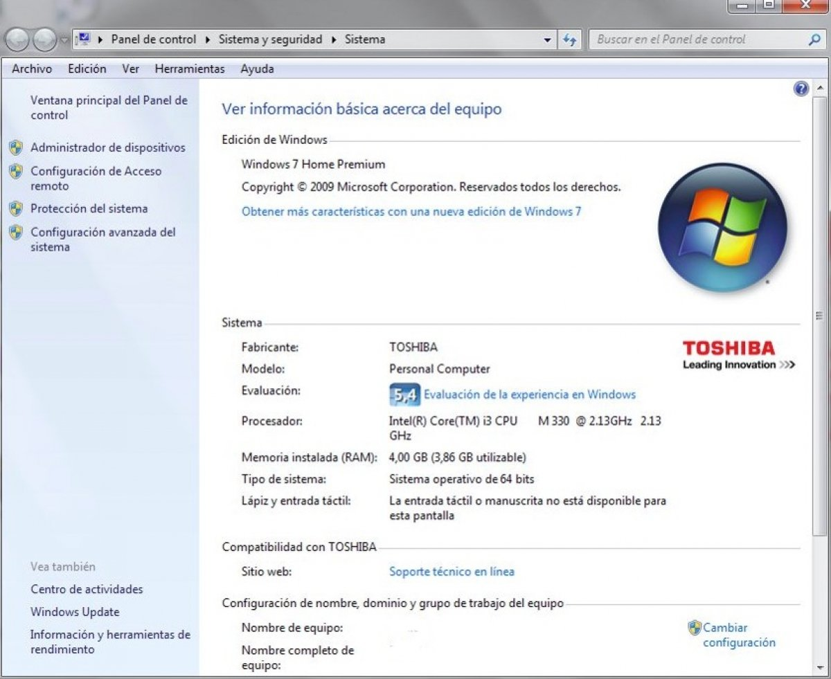 Requisitos mínimos de Windows 7