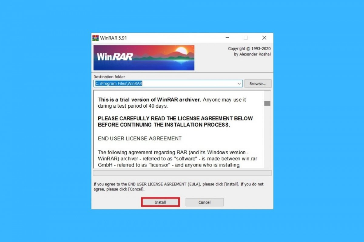 Comment installer WinRAR