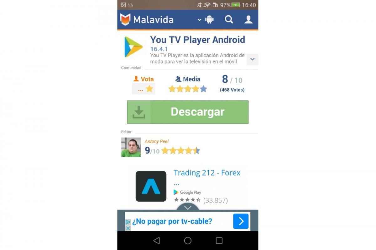 Cómo descargar You TV Player en Android
