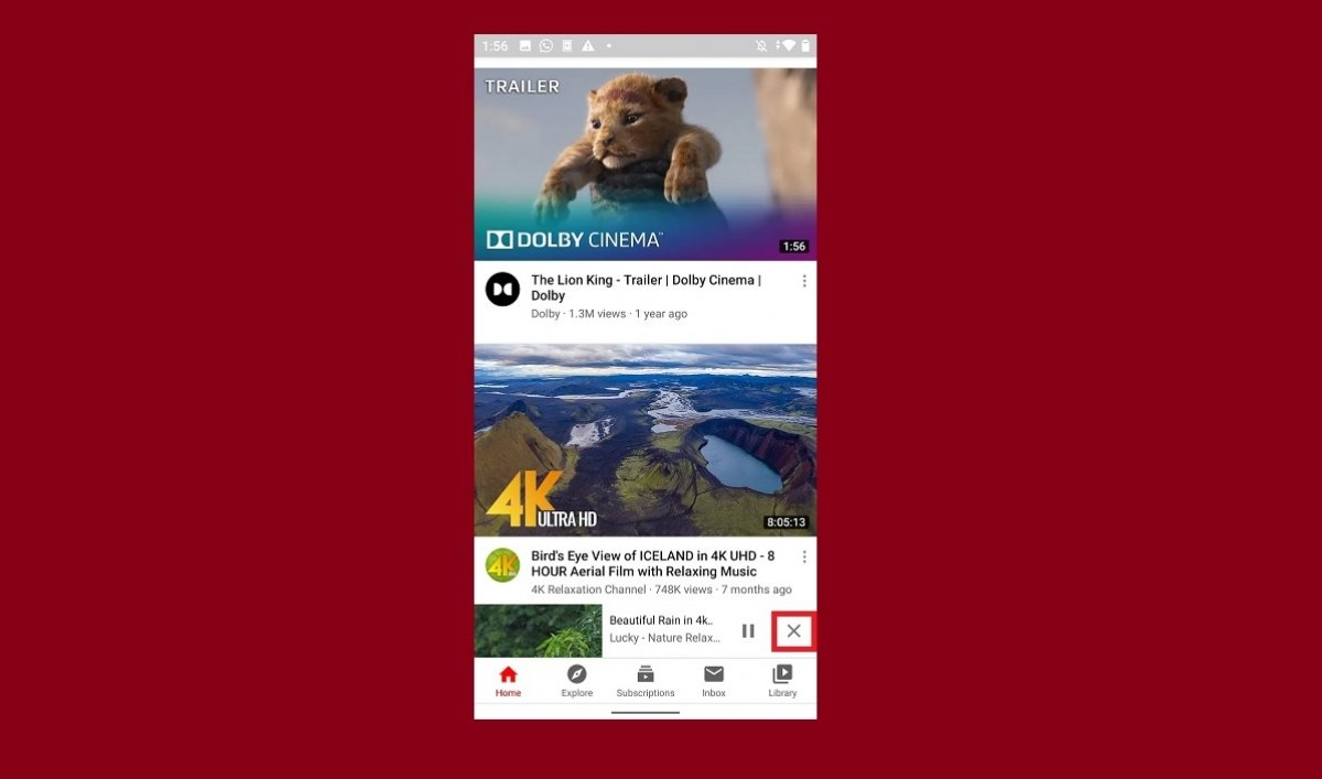 How to disable videos in the background in YouTube for Android