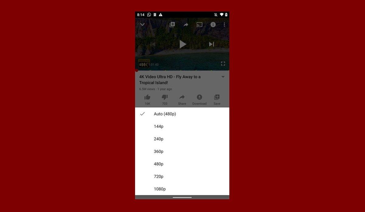 Cómo cambiar la calidad del vídeo en YouTube