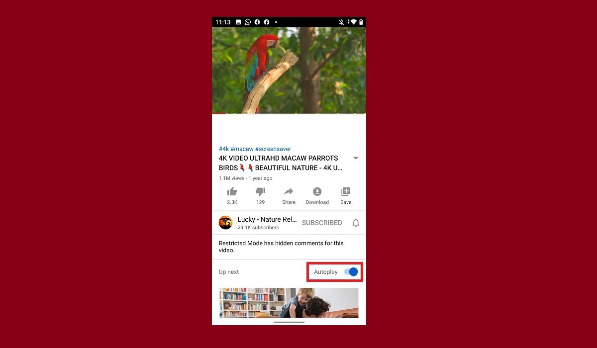 How to turn off the YouTube Autoplay function on Android
