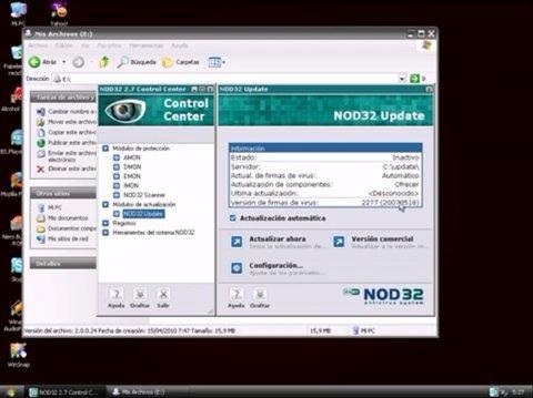Actualizar antivirus NOD32