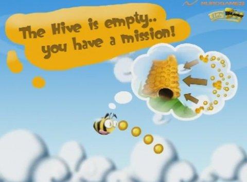 Ayuda a la abeja a recolectar miel y polen