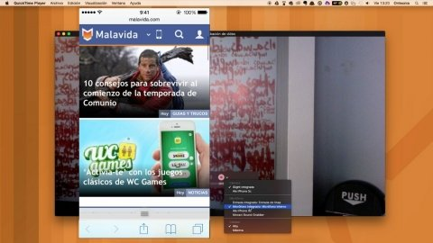 Cómo grabar la pantalla del iPhone en Mac con QuickTime