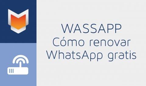 Cómo renovar WhatsApp gratis con Wassapp