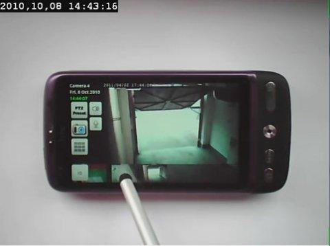 Controla una cámara de seguridad desde el teléfono