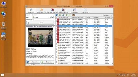 Descarga vídeos de YouTube en varios formatos con Free FLV Converter
