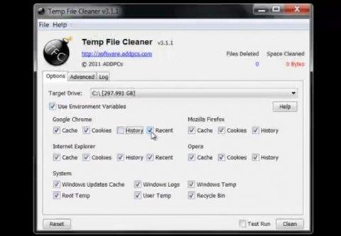 Eliminar los archivos temporales