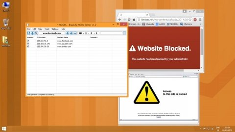 Block the access to any web with BlueLife Hosts Editor