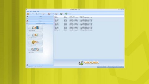 Convert an audio CD to MP3 with Format Factory