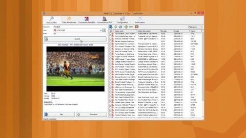 Download videos from YouTube in several formats with Free FLV Converter