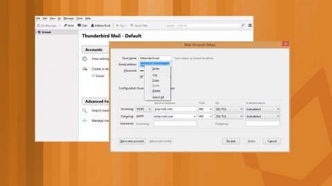 How to configure a Thunderbird email account
