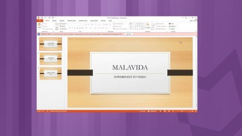 How to convert a PowerPoint into video