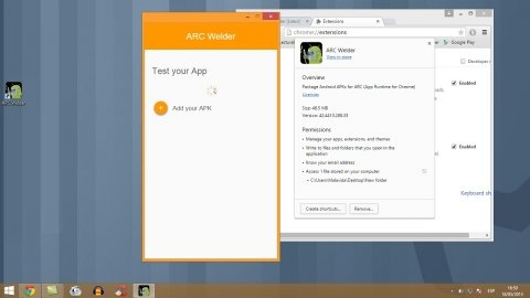 How to open Android applications in Chrome with ARC Welder