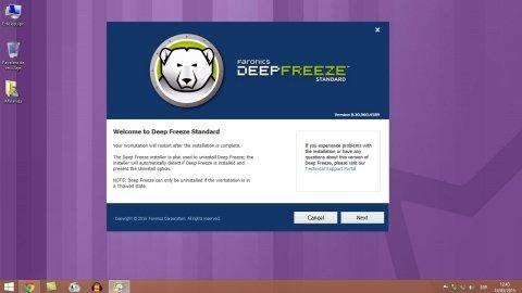 La forma más rápida de desinstalar Deep Freeze