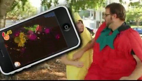 Parte frutas con Fruit Ninja