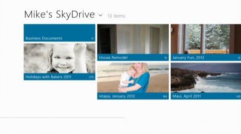 SkyDrive en Windows 8