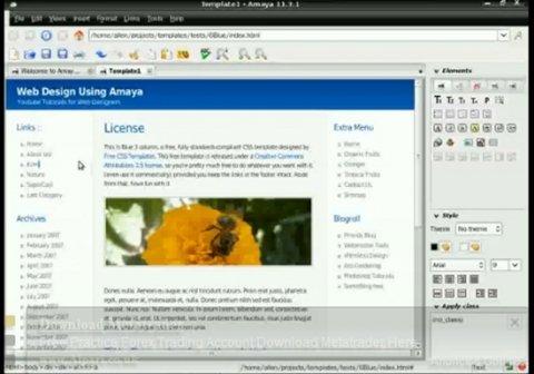 Un sencillo editor web