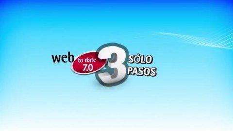 web to date, una página web en tres pasos